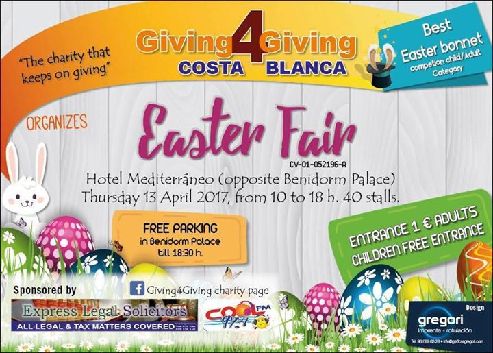 Giving4Giving Easter Fair in Benidorm