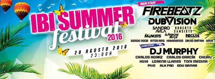 Ibi Summer Festival - 20 Agosto - IBI (Alicante)