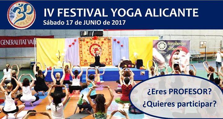 IV Festival de Yoga Alicante.¿Eres profesor?¿Quieres participar?