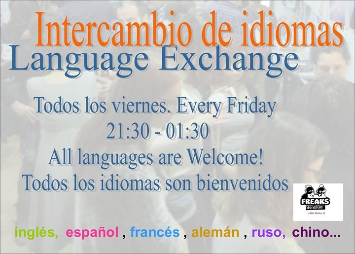 Language Exchange Meeting/intercambio de idiomas.
