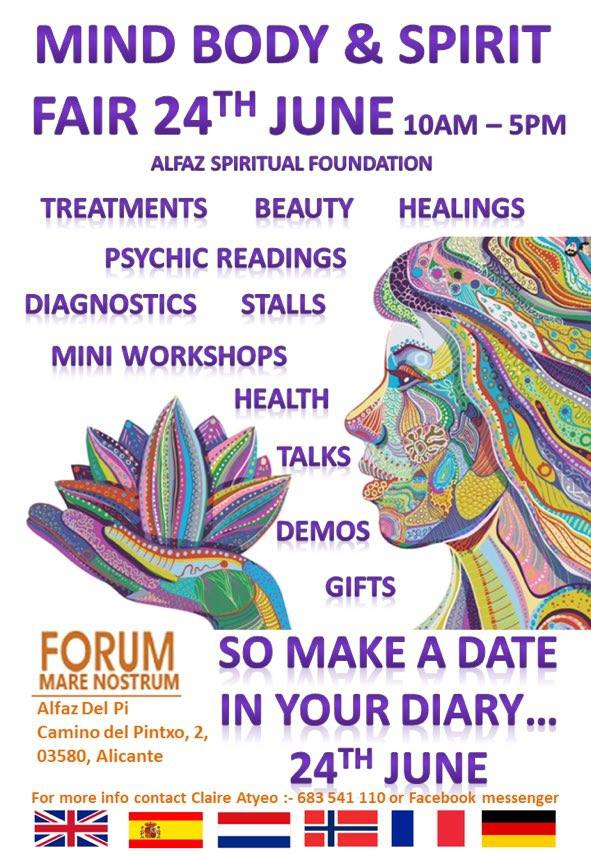 Mind, Body & Spirit Fair in Alfaz del Pi