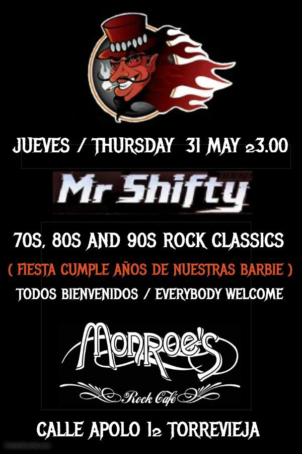 Mr Shifty at Torrevieja
