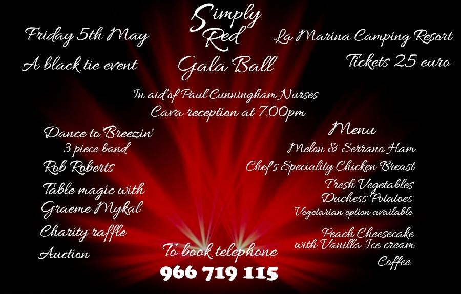 Paul Cunningham Nurses Simply Red Gala Ball