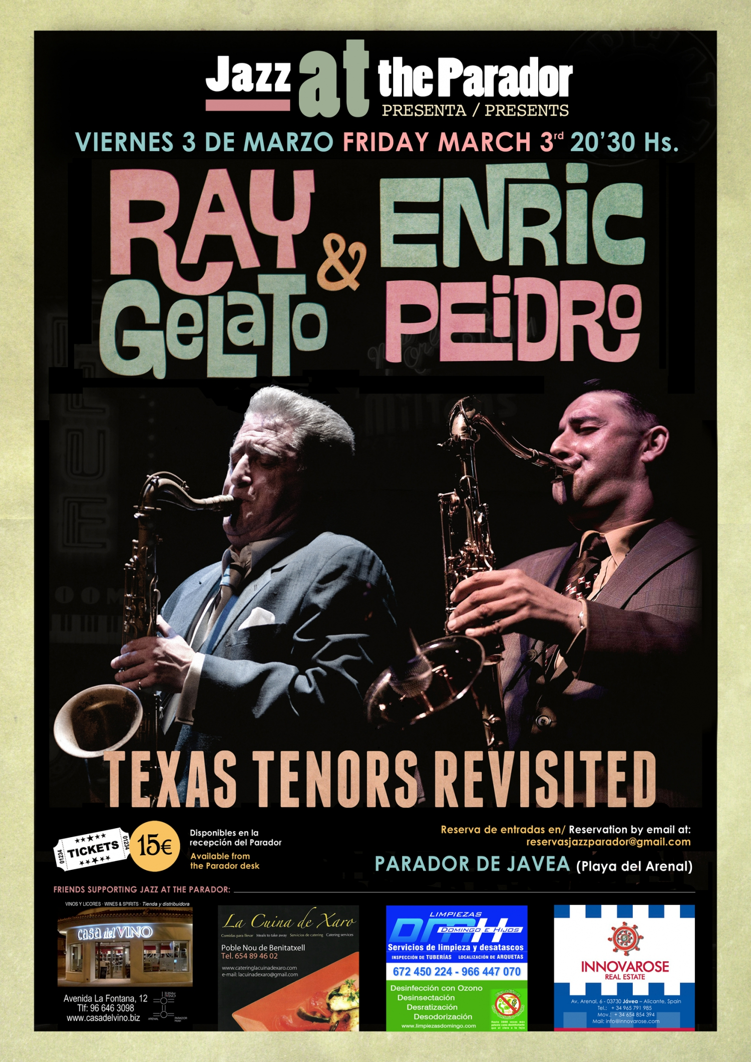 RAY GELATO & ENRIC PEIDRO 'Texas Tenors Revisited'