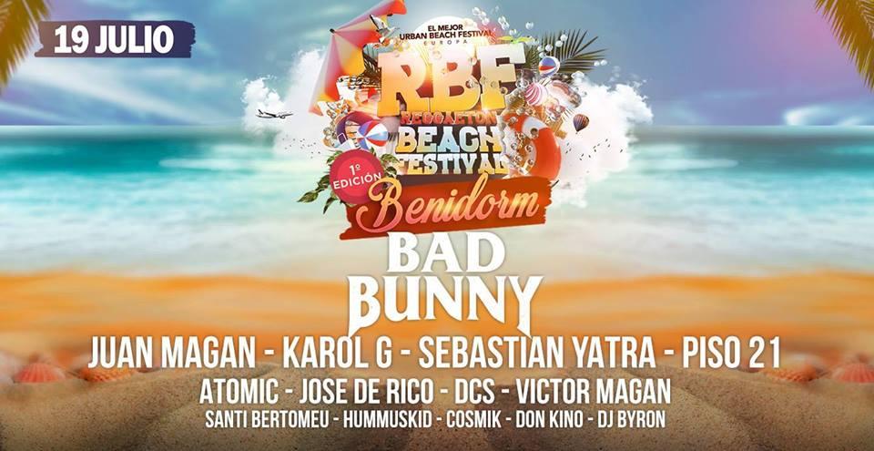 Reggaeton Beach Festival Benidorm 2018