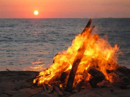 San Juan bonfires on the beach - Costa Blanca