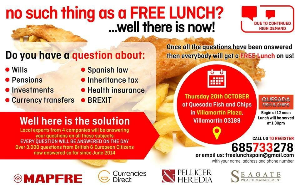 Seminar On Wills, Pensions and the Law & Free Lunch