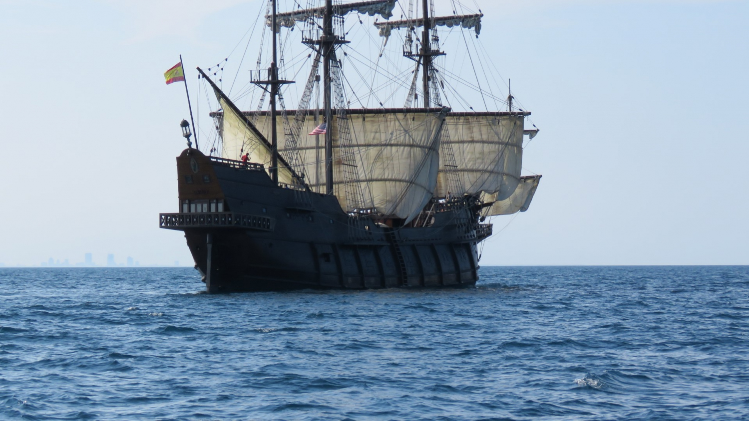 Spain's floating maritime museum, the Andalucia galleon in Alicante