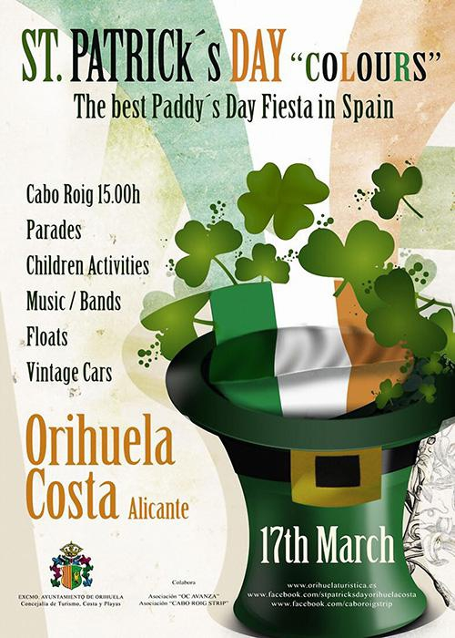 St Patrick's Day Parade on the Orihuela Costa