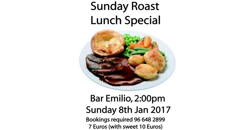 Sunday Roast at Bar Emilio