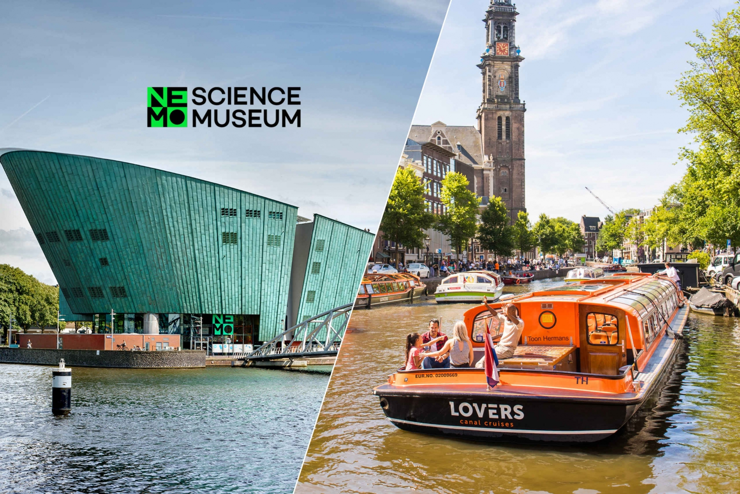 1-Hour Canal Cruise & NEMO Science Museum