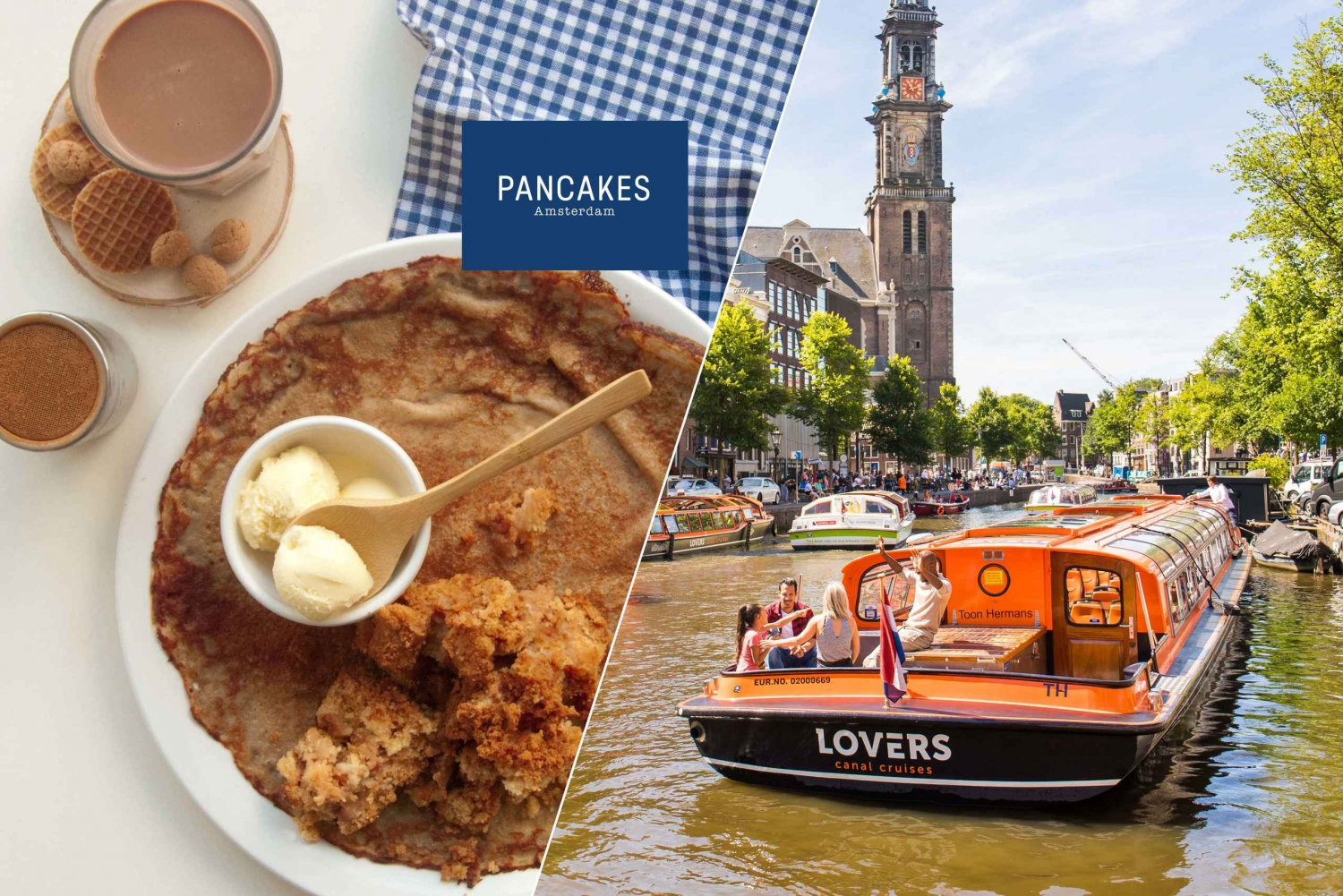 Amsterdam 1-Hour Cruise from Anne Frank House with Pancake