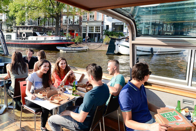 Amsterdam Evening Pizza Cruise