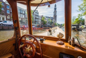 Amsterdam: Luxury Salon Boat Cruise with Drinks & Cheese