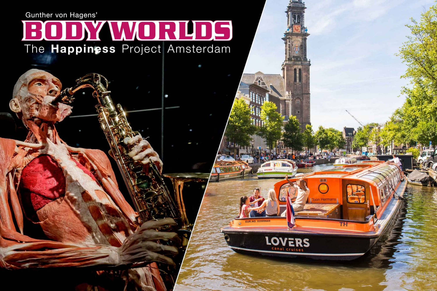 Body Worlds Exhibition and Canal Cruise