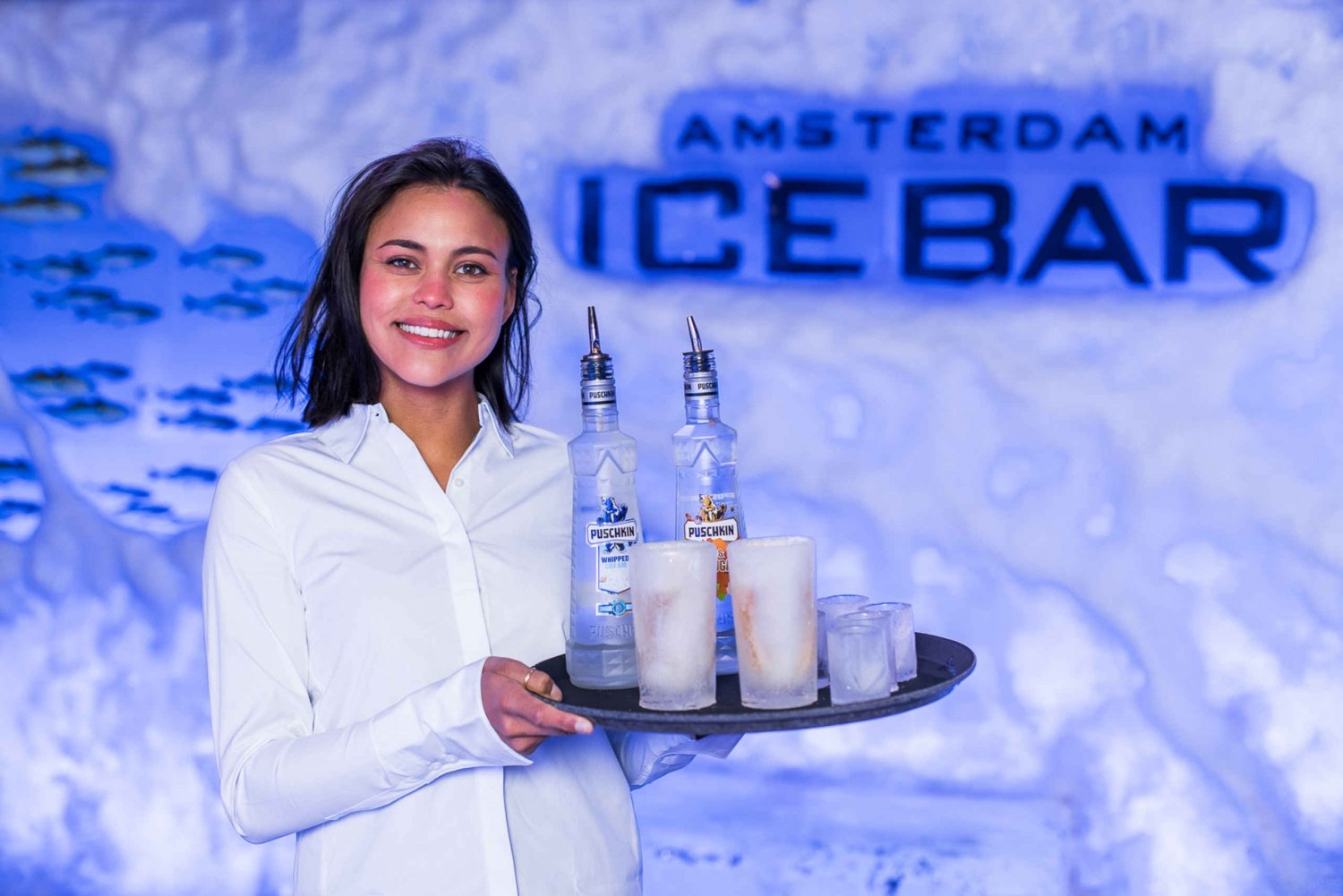 Cocktails at Amsterdam's Icebar