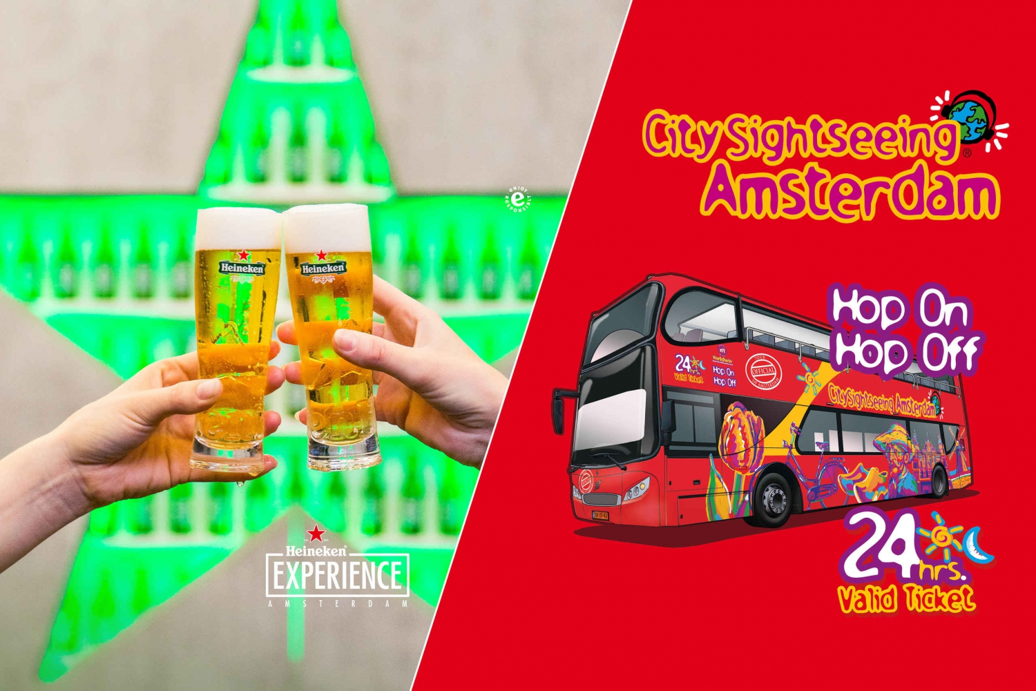 Hop-On Hop-Off Bus Tour and Heineken Experience