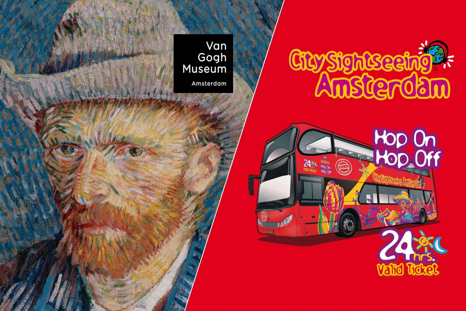 Hop-on Hop-off Bus Tour & Van Gogh Museum Timed Access