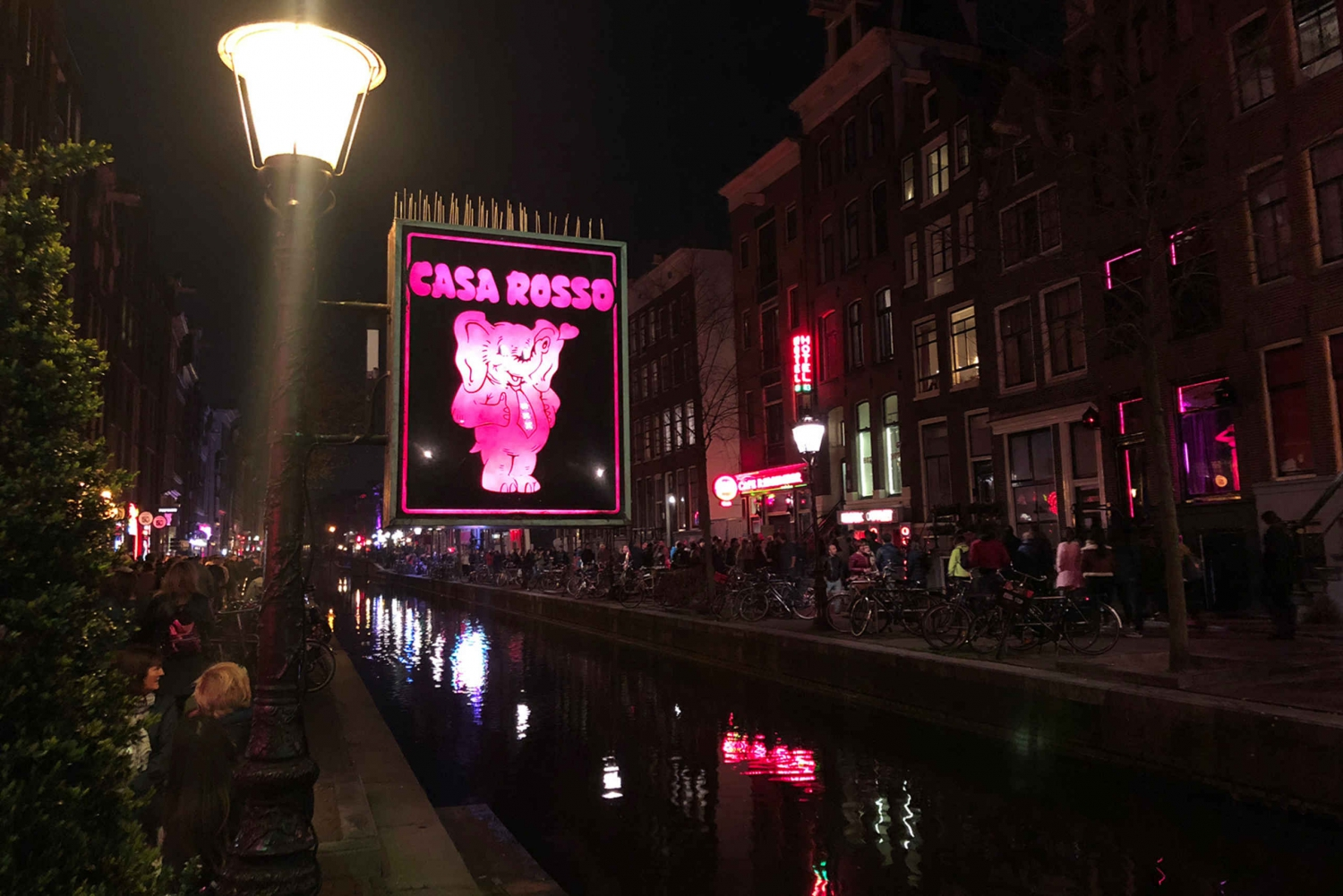 Red Light District Walking Tour and Show at Casa Rosso