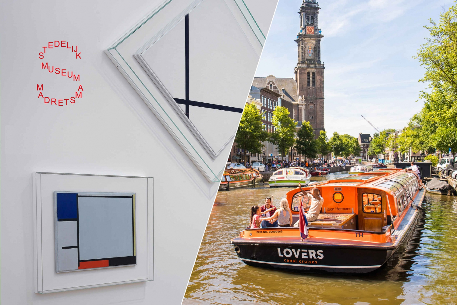 Stedelijk Museum and 1-Hour Canal Cruise