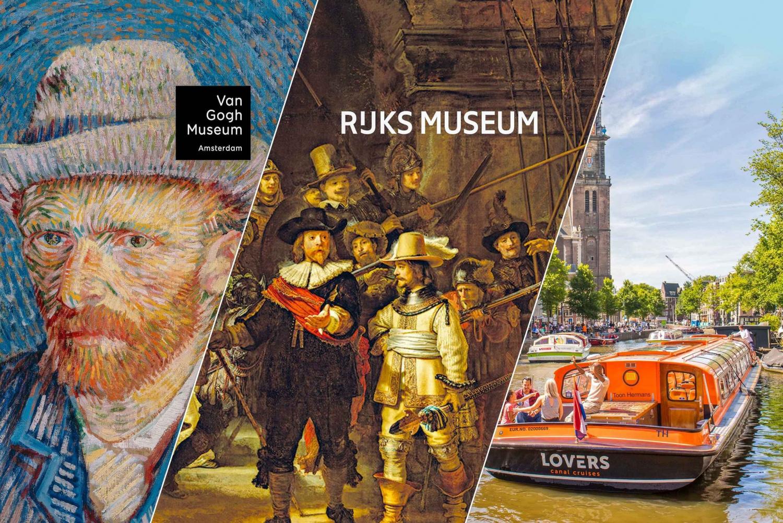 Van Gogh Museum & Rijksmuseum Tour Canal Cruise & Lunch