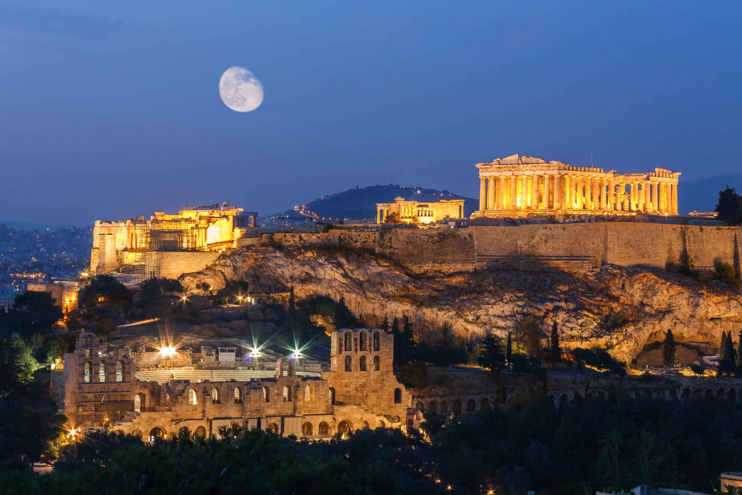 Athens After Sunset 2-Hour Highlights Tour by E-Bike