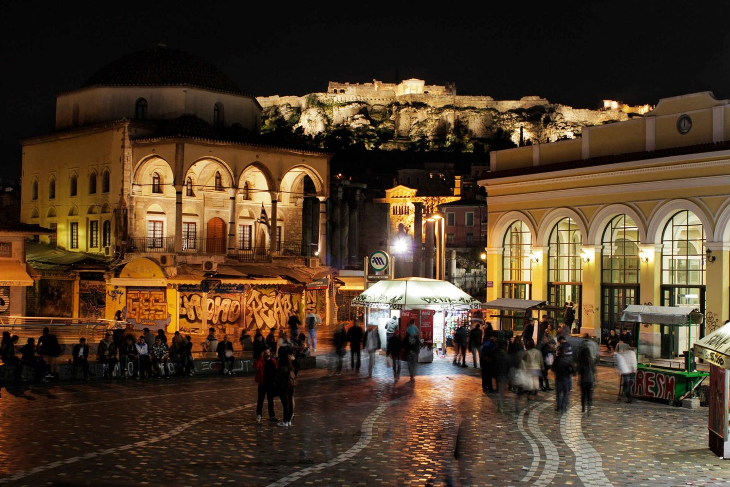 Athens by Night Tour with Dinner and Show