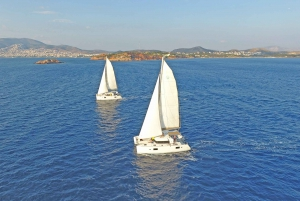 Athens: Catamaran Sailing Cruise with Meal and Drinks