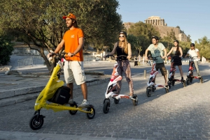 Athens: Electric Scooter City Tour with Food Tasting