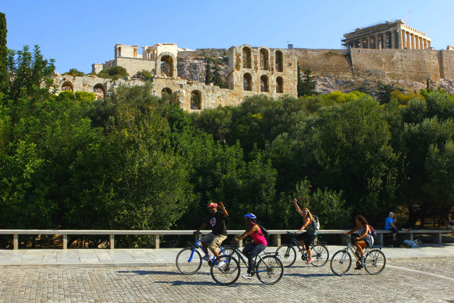 Athens Highlights Tour on an Electric Bike