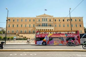Athens: Red Hop-On Hop-Off Bus with Piraeus and Beach Rivera