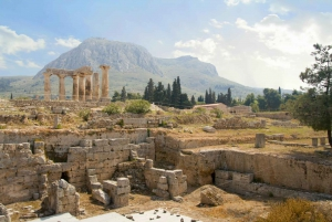 Day-Trip to Ancient Corinth, Hera Temple & Blue Lake