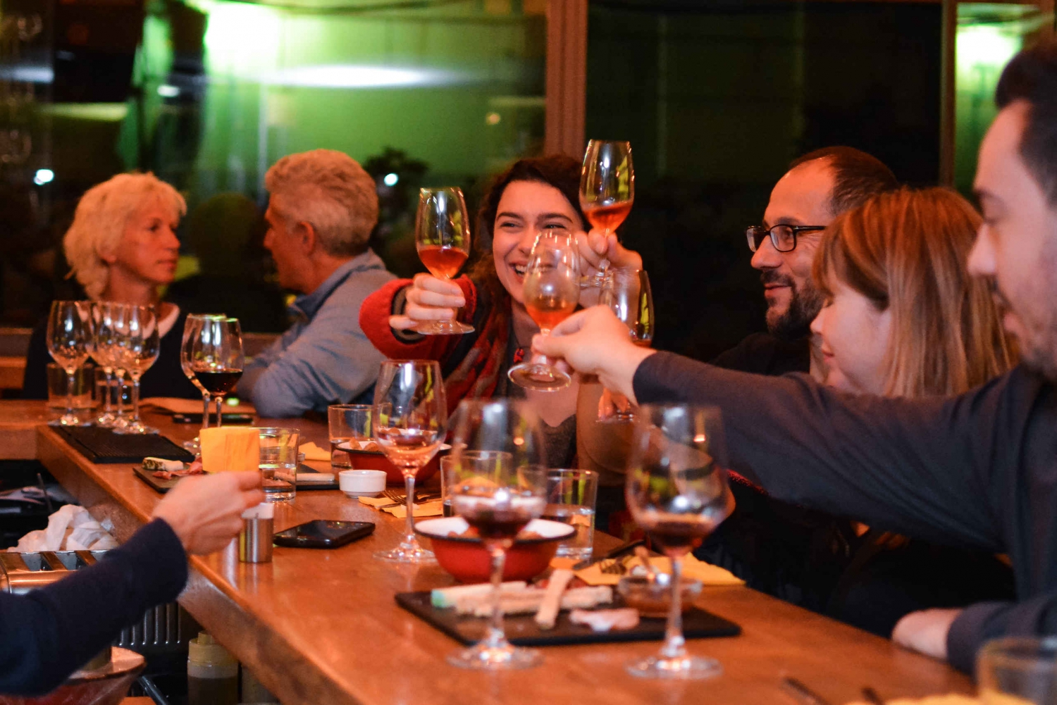 Food and Wine Tasting Tour at Night