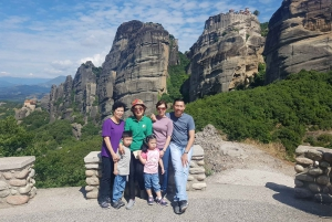 From Athens: Trip to Meteora by Train with Overnight Stay