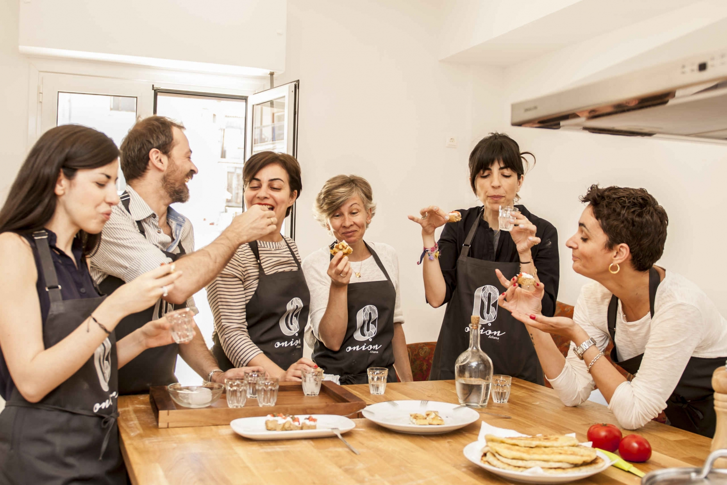 Half-Day Greek Cooking Class and Downtown Lunch