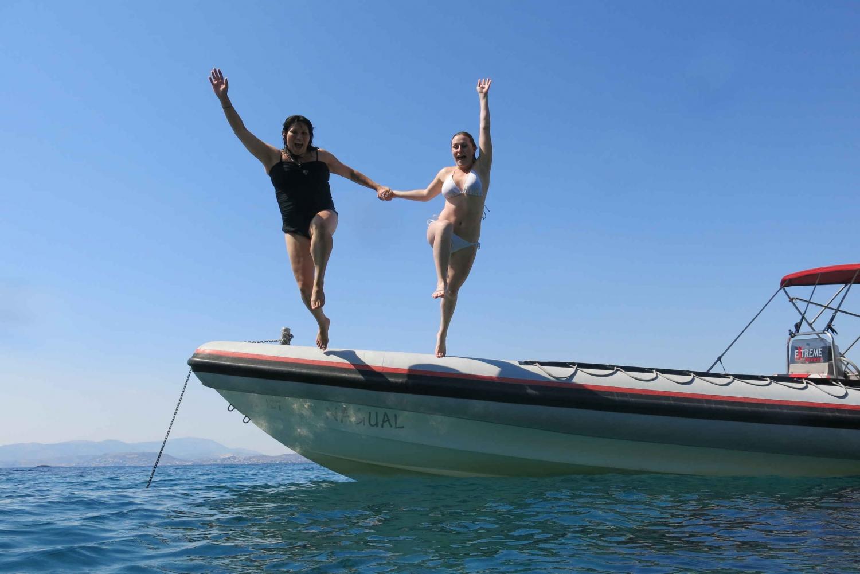 Private Rib Cruise to Poseidon Temple at Sounio Cape