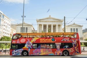 Red Hop-On Hop-Off Bus with Piraeus and Beach Rivera