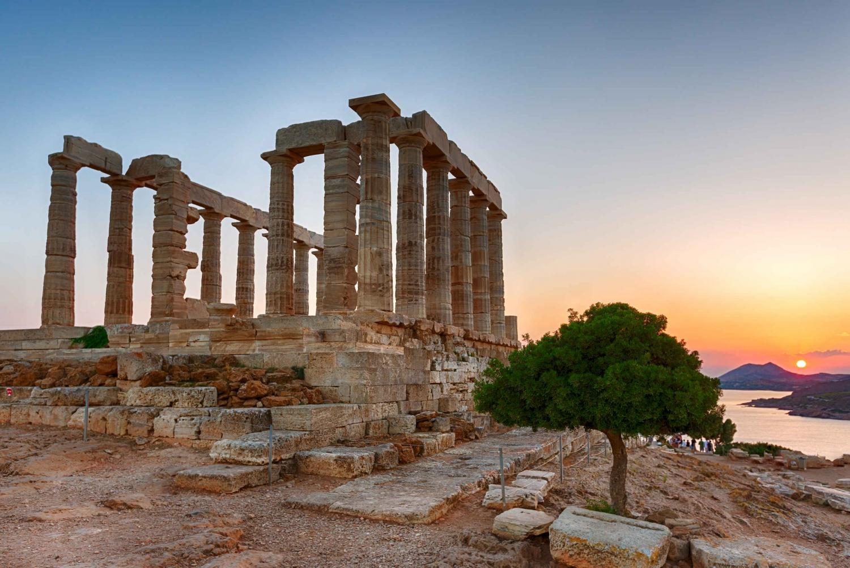 Temple of Poseidon and Cape Sounion Sunset Tour