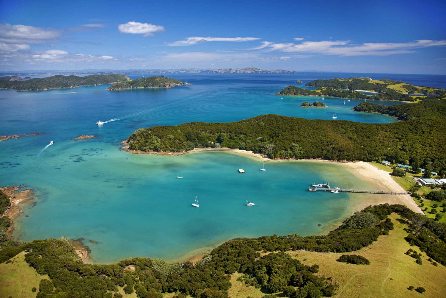 Bay of Islands 2-Day Tour with Dolphin Watching Cruise