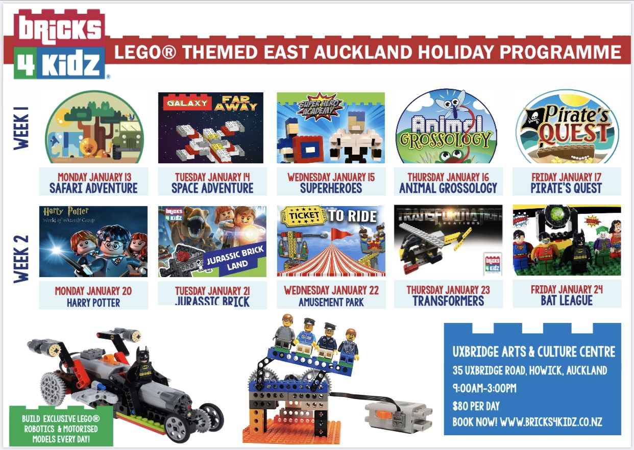 East Auckland LEGO® Themed Holiday Programmes