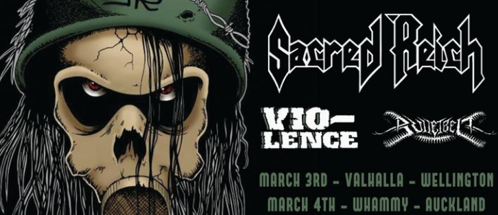 Sacred Reich + Vio-Lence - Auckland Wednesday 4 March 2020