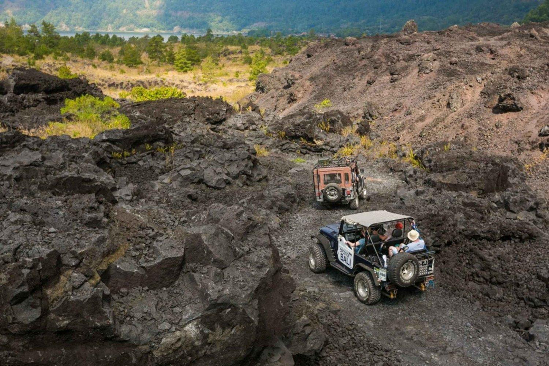 Mt. Batur: Black Lava Jeep Tour & Natural Hot Spring