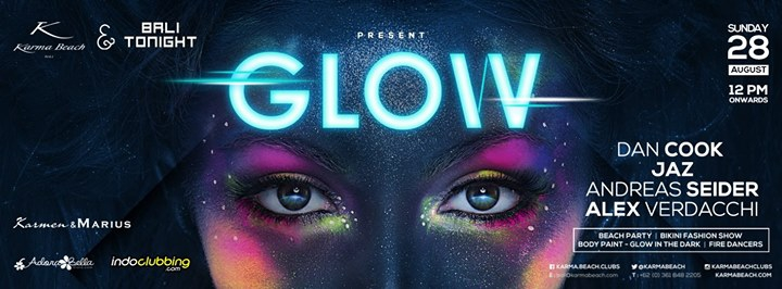 Bali Tonight & Karma Beach present GLOW BEACH PARTY