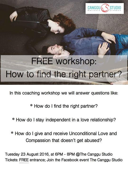 Free workshop: How to find the right partner?