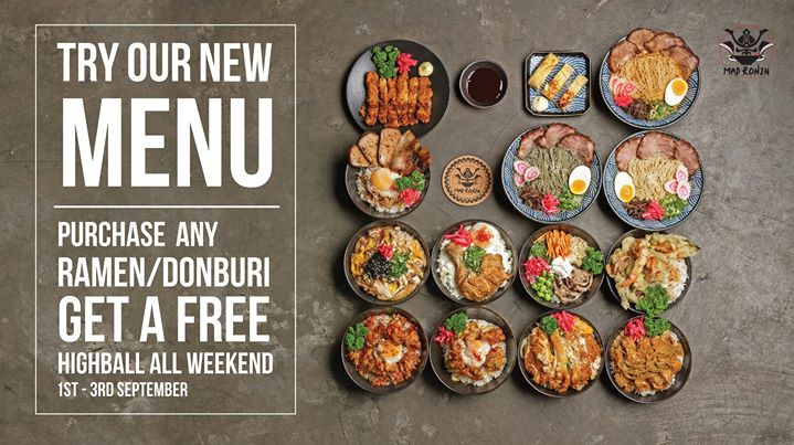 Mad Ronin New Menu Launch