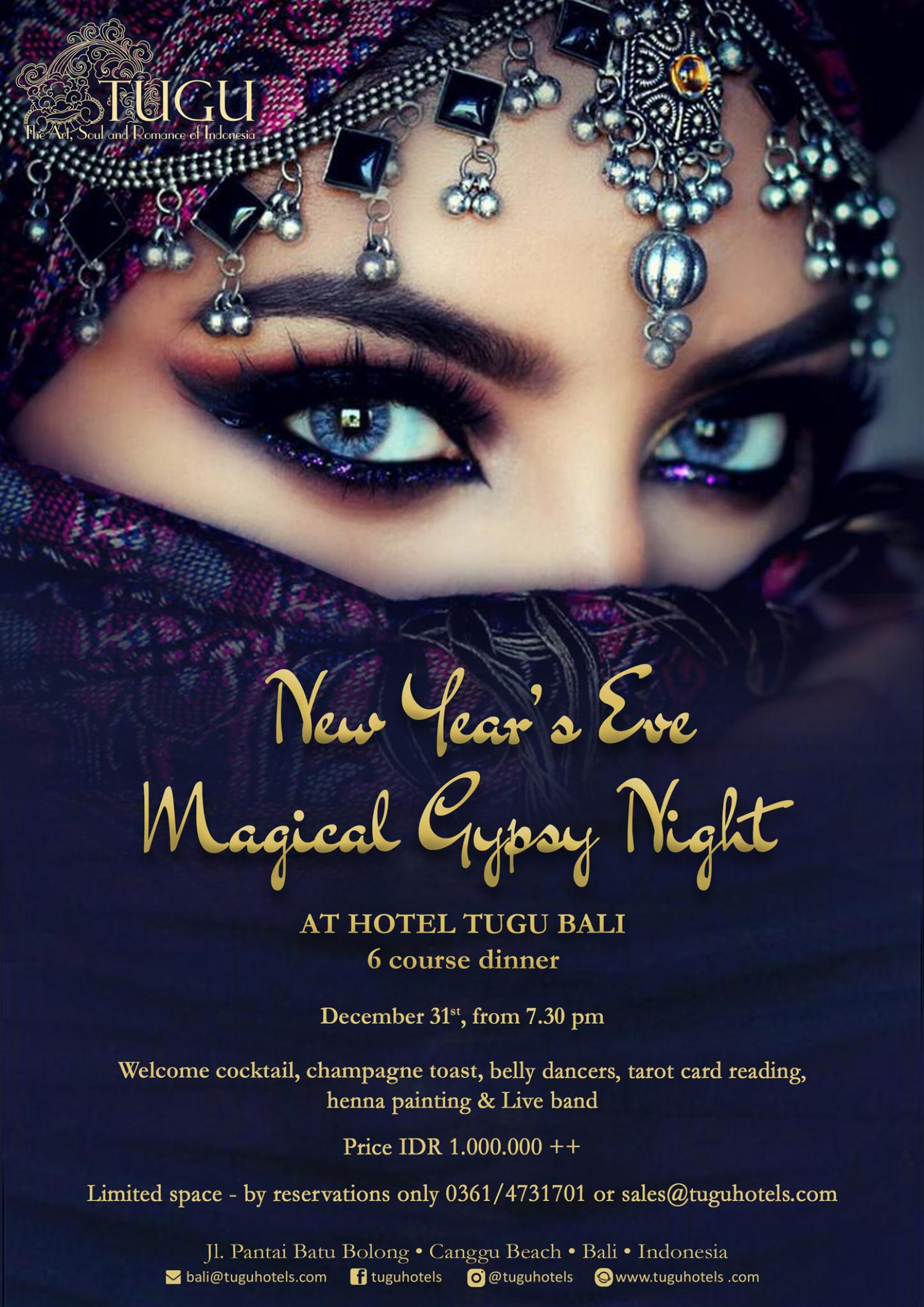 New Year's Eve Magical Gypsy Nomadic Night at Hotel Tugu Bali
