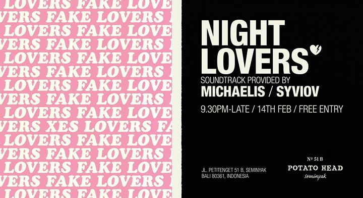 Night Lovers – A Late Night Valentine's Party