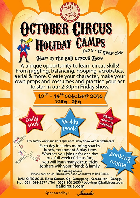 October Circus Holiday Camps 2016