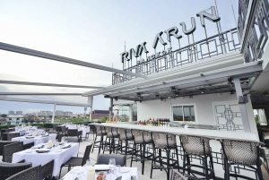 Bangkok: Above Riva Rooftop Restaurant & Roundtrip Transfer