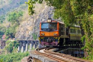 Bangkok: Kanchanaburi & Erawan Waterfalls Spanish Tour